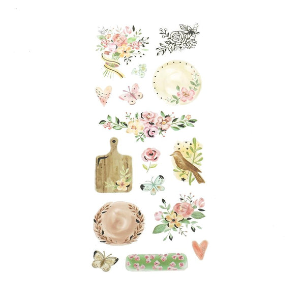 Foil Fancy Vintage Floral Stickers, 16-Piece