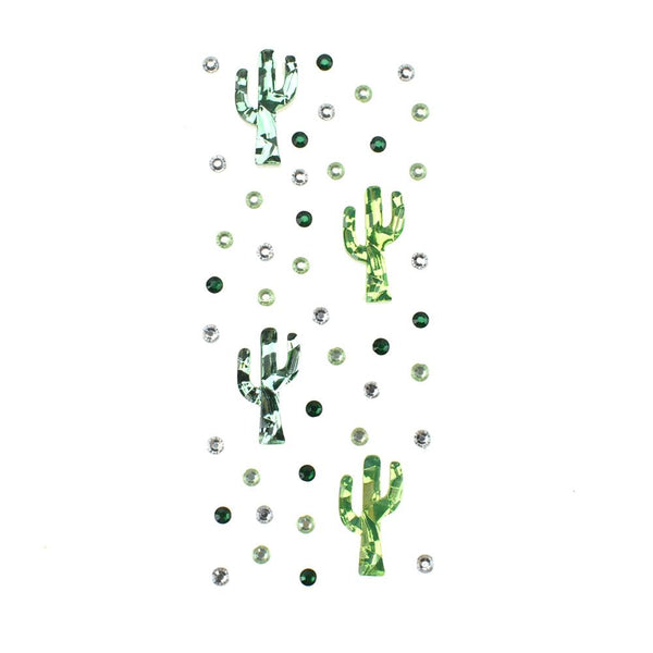 Cactus Bling Gem Accent Stickers, 44-Piece