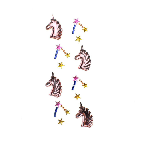 Unicorn Bling Gem Accent Stickers,12-Piece