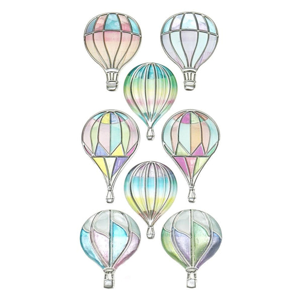 Hot Air Balloon Foil Craft Stickers, 8-Piece