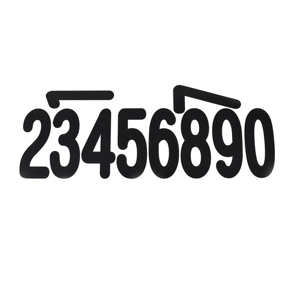 Biggie Fonts Numbers Stickers, 3-Inch, 40-Piece, Numbers Black