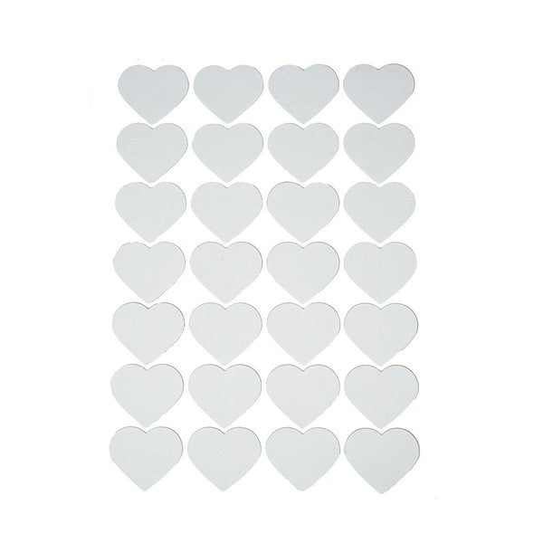 Craft Cotton Canvas Heart Stickers, 1-7/8-Inch, 28-Count