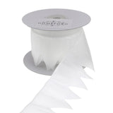 12-Pack, Star Pouch Pull Bow Organza Ribbon, 2-Inch, 10 Yards, White