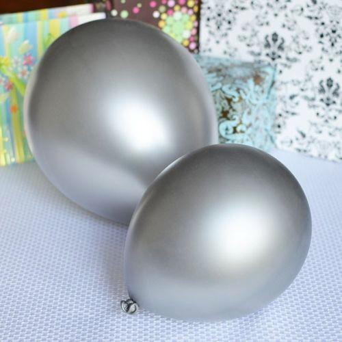 12-Pack, Latex Balloons Party Supplies, 12-inch, 12-piece, Silver