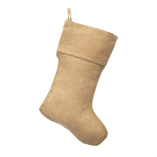 12-Pack, Natural Burlap Plain Christmas Stocking, 17-inch