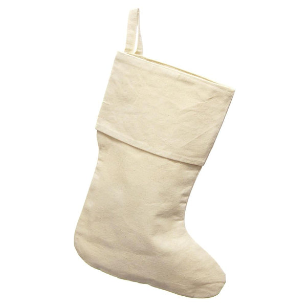12-Pack, Natural Canvas Plain Christmas Stocking, 17-inch