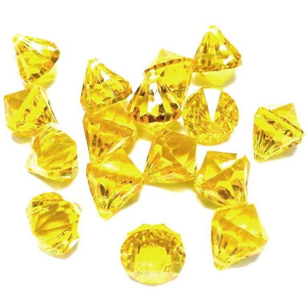 12-Pack, Acrylic Crystal Hanging Decor, 1-inch, 100-piece, Gold