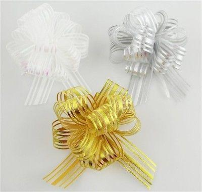 Pull Bow String Sheer Organza