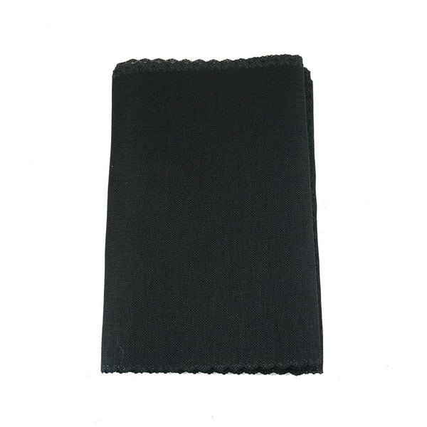 Faux Jute Table Runner with Picot Lace Edge, Black, 14-Inch x 72-Inch
