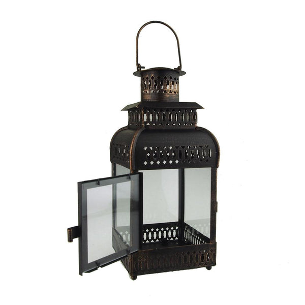 12-Pack, Antique Bronze Metal Candle Lantern, 16-Inch