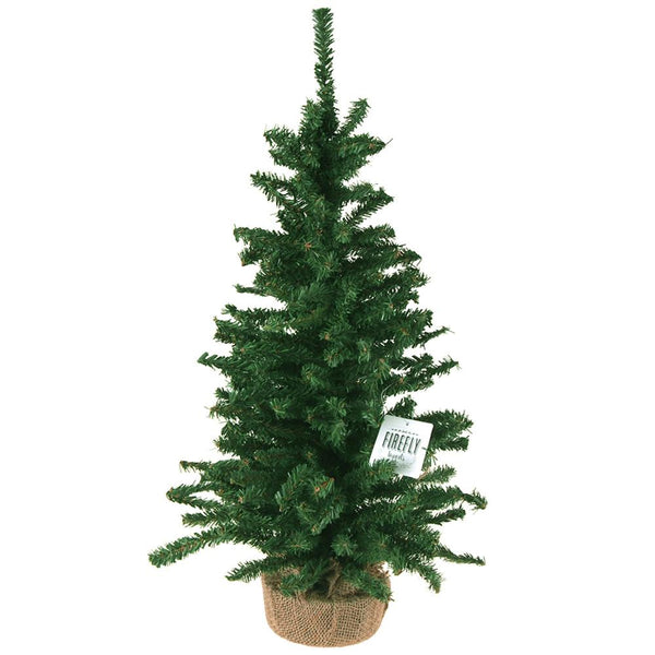 12-Pack, Mini Christmas Tree Artificial Pine Trees, Green, 24-Inch
