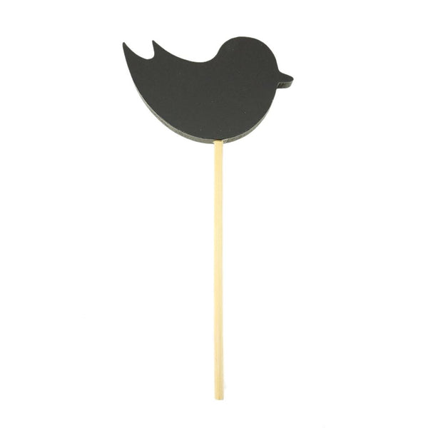 Bird Shaped Chalkboard Stick, Black, 8-Inch
