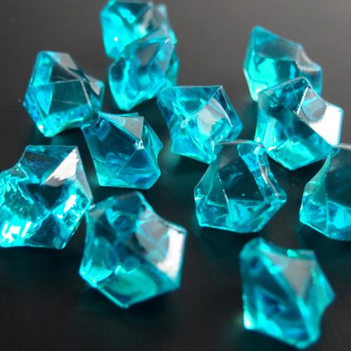 Acrylic Crystal Ice Rocks Table Scatter, 1-inch, 150-Piece, Turquoise