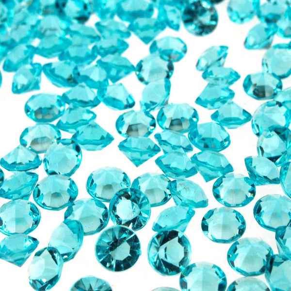 12-Pack, 300 piece Small Gemstone Diamonds Table Confetti, 3/8-inch, Turquoise