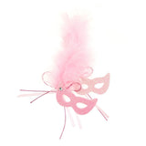 EVA Glitter Foam and Feather Masquerade Masks, 2-1/2-Inch