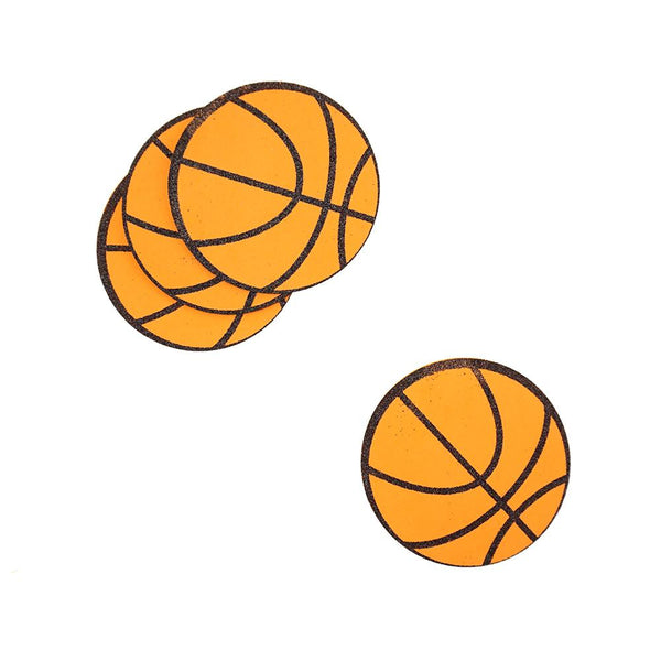 Glittered Basketball EVA Foam Cut Outs, 2-3/4-Inch, 10-Count