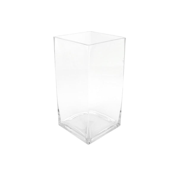 Rectangular Glass Vase, 11-3/4-Inch [Closeout]
