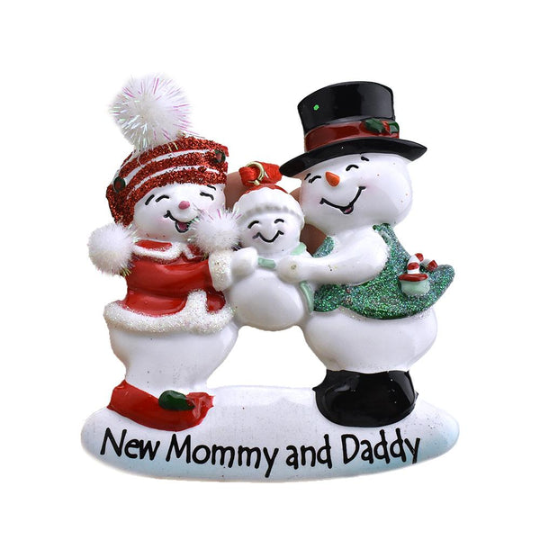 12-Pack, New Mommy and Daddy Snowman Christmas Ornament, 3-1/4-Inch