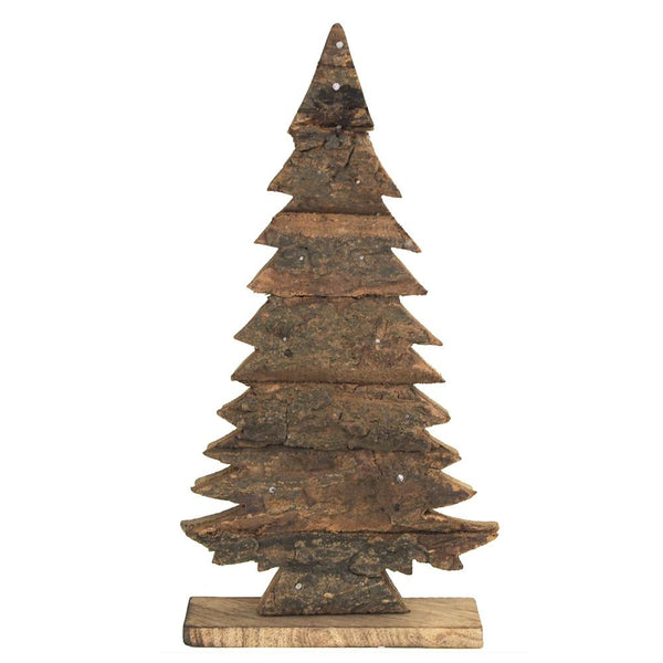 Christmas Tree Topper Wooden Ornament, 5-1/2-Inch