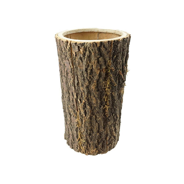 Wooden Bark Planter, 15-1/2-Inch