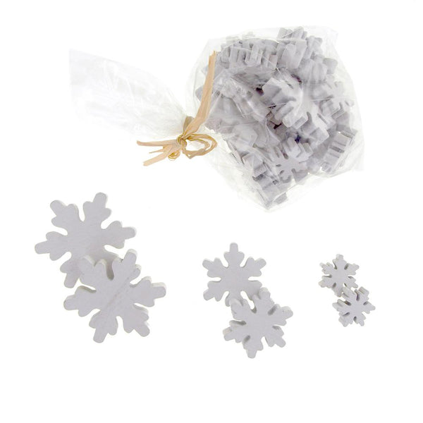 12-Pack, Christmas Snowflake Wooden Cutouts, 3 Sizes, 30 Piece