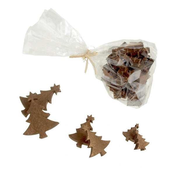 12-Pack, Christmas Tree Wooden Cutouts, 3 Sizes, 30 Piece