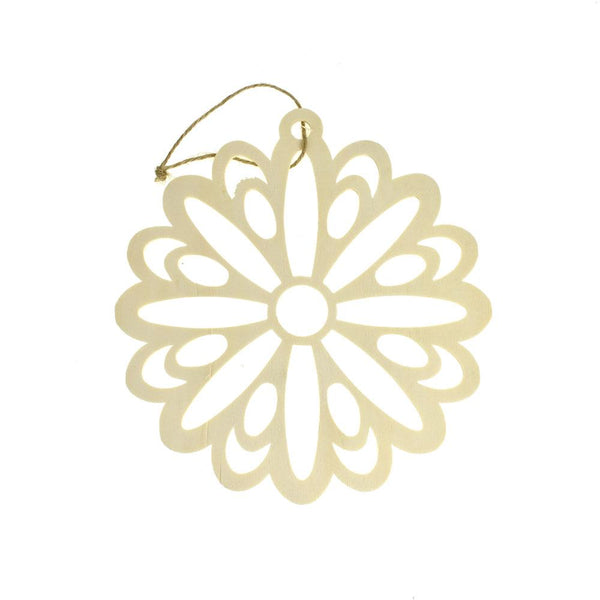 Flower Craft Wood Cut Out, 7-1/2-Inch