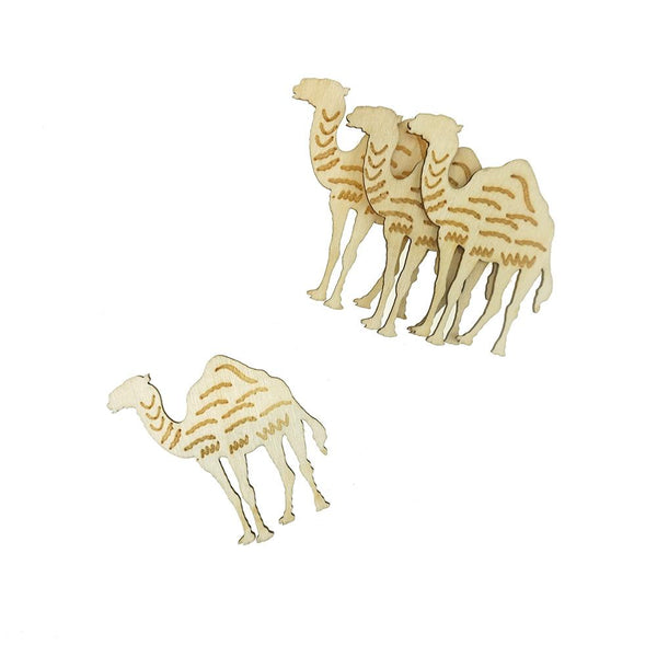 Camel Laser-Cut Wood Shapes, Natural, 2-Inch, 12-Count
