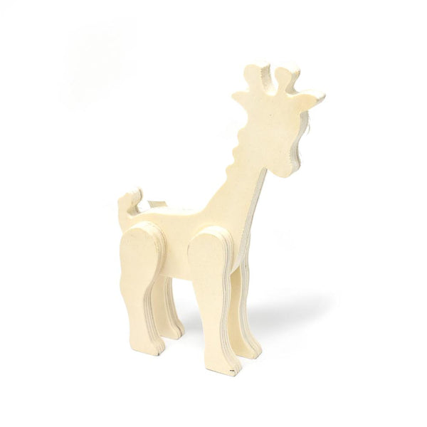 Wood Craft Standing Giraffe, 7-Inch