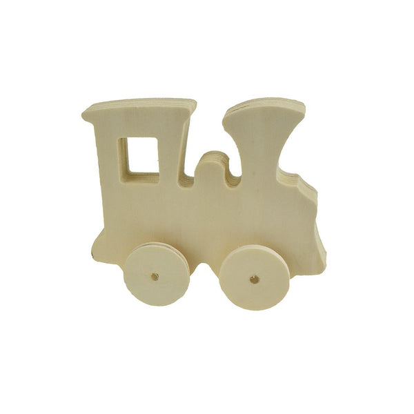 Craft Wood Train With Wheels, 3-9/16-Inch