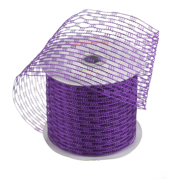12-Pack, Stretch Netting Wired Mesh Ribbon, 2-1/2-Inch, 10 Yards, Purple