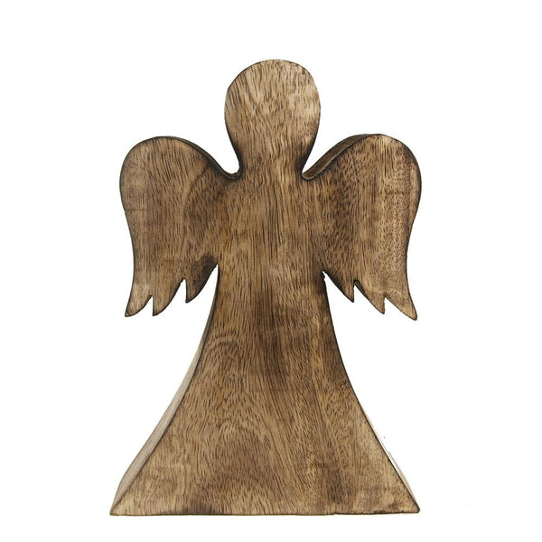 Christmas Angel Wooden Stand, Natural, 6-1/2-Inch