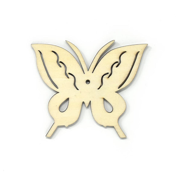 12-Pack, Craft Wood Laser Cut Wood Butterfly, Natural, 3-Inch, 4-Count