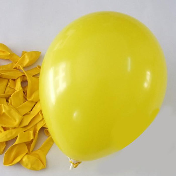12-Pack, Latex Balloons Party Supplies, 12-inch, 12-piece, Yellow
