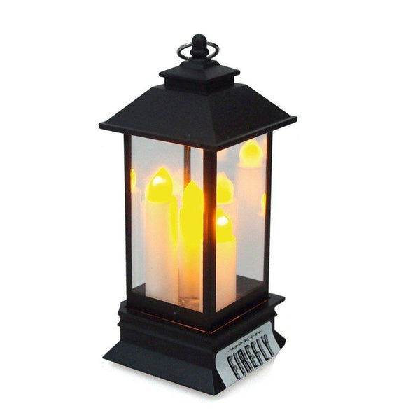 LED Flameless Candle Metal Lantern Ornament, 5-1/4-Inch