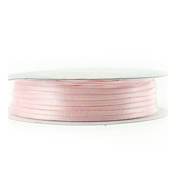 Double Faced Satin Ribbon, Blush, 1/16-inch, 100-yard
