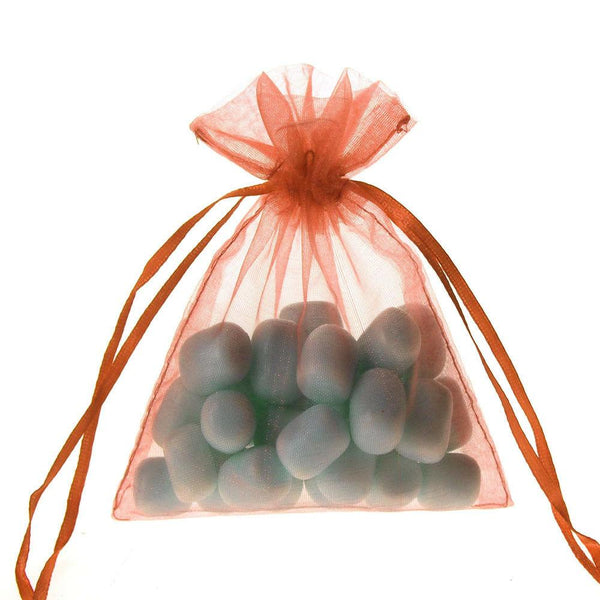 Organza Favor Pouch Bag, 4-Inch x 5-Inch, 12-Count, Coral