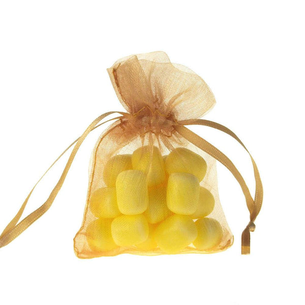 Organza Favor Pouch Bag, 3-Inch x 4-Inch, 12-Count, Gold