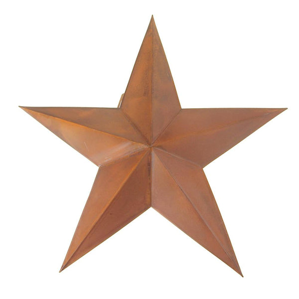 12 Pack, Metal Hanging Rusty Star Christmas Decor, 18-Inch