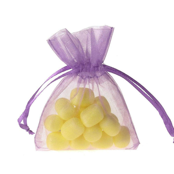 Organza Favor Pouch Bag, 3-Inch x 4-Inch, 12-Count, Lavender