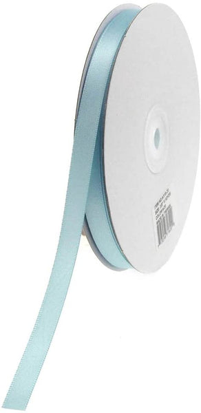 Double Face Satin Ribbon, 1/4-Inch, 50-Yard, Light Blue