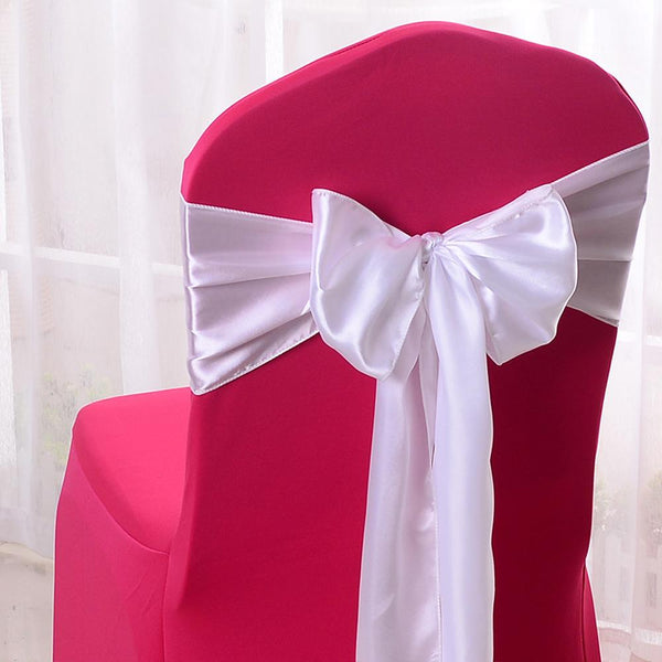 12 Pack, Satin Chair Bow Sash, 6-Inch x 9-Feet, 6-Count