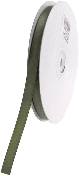 Double Face Satin Ribbon, 1/4-Inch, 50-Yard, Moss Green