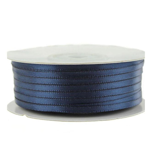 Double Faced Satin Ribbon, 1/8-inch, 100-yard, Navy Blue
