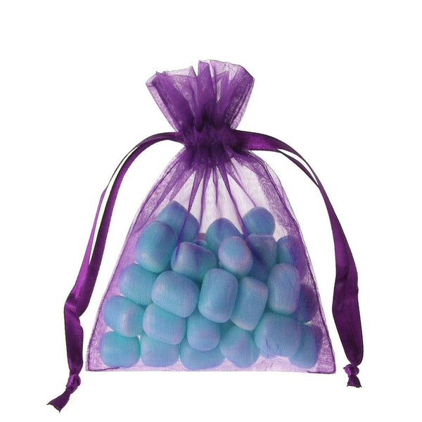 Organza Favor Pouch Bag, 4-Inch x 5-Inch, 12-Count, Purple