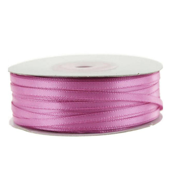 Double Faced Satin Ribbon, 1/8-inch, 100-yard, Rosy Mauve