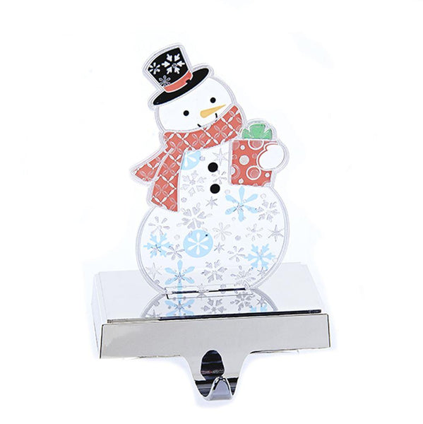 12-Pack, Flashing LED Plastic Snowman Stocking Holder, 7-1/2-Inch