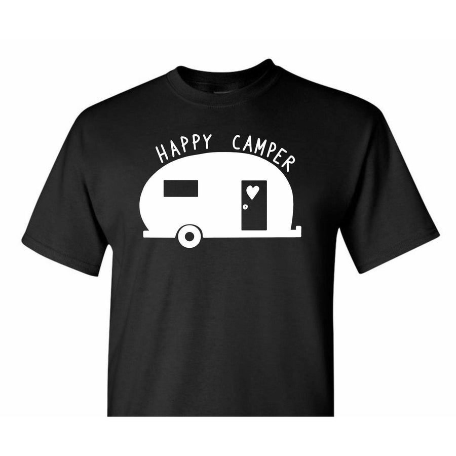 Happy Camper, RV Shirt, Adventure Shirt, Outdoors Shirt, Hiking Shirt, Camping Shirt, Outdoorsman Shirt, Adventure Lover, Go Outdoors