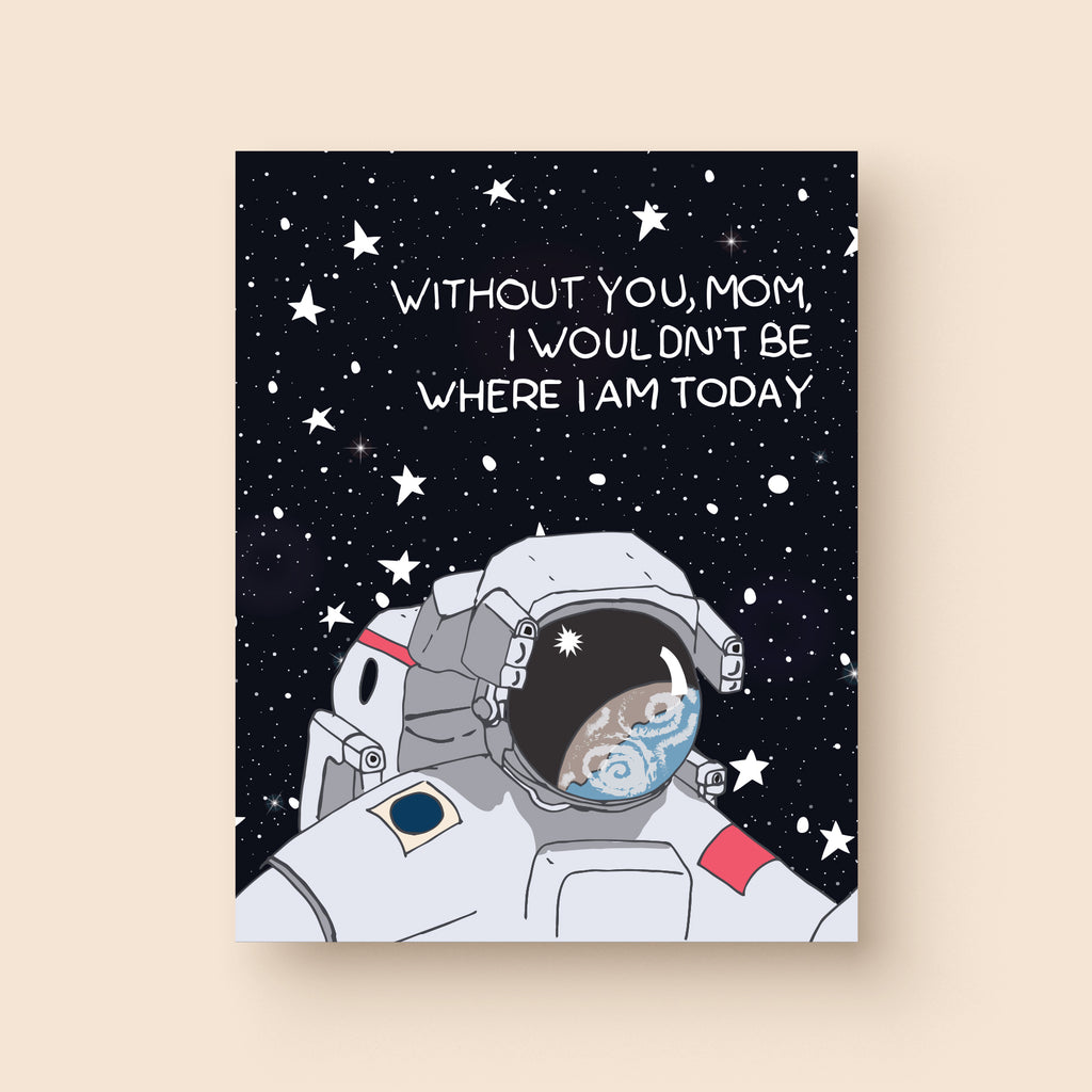 Astronaut Mother's Day Card