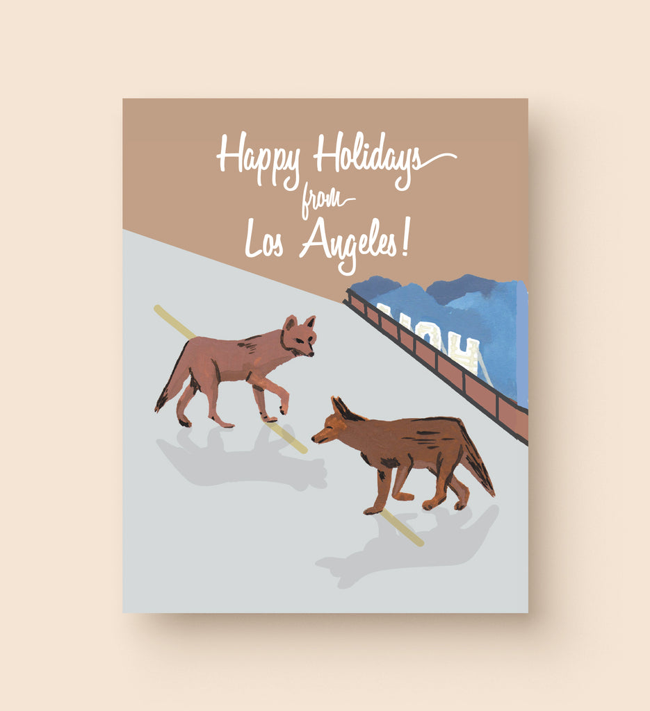 Los Angeles Coyote Holiday Card